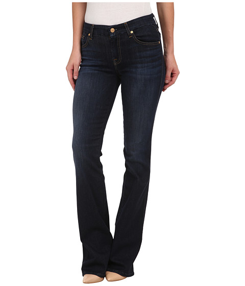 7 For All Mankind - A Pocket with Gold/Brown A in Slim Illusion Tried/True Blue (Slim Illusion Tried/True Blue) Women