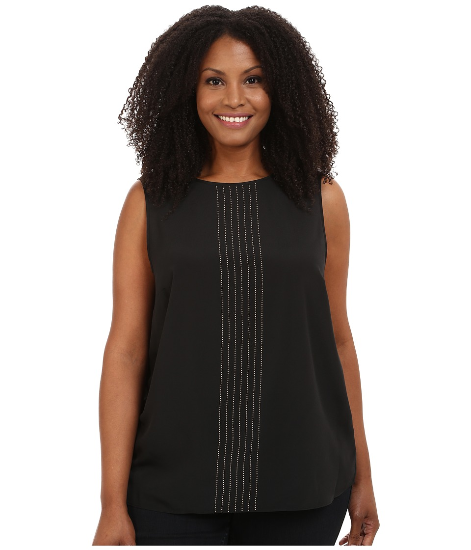 MICHAEL Michael Kors - Plus Size Sleeveless Top (Black) Women's Sleeveless