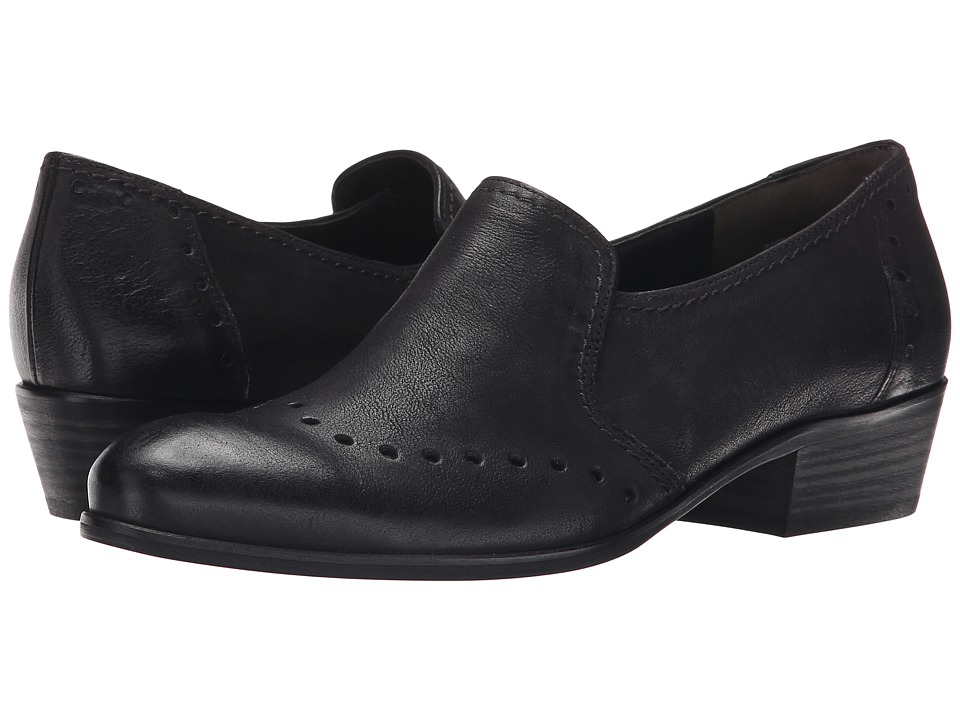 Paul Green - Egan Slip-On (Black Leather) Women's 1-2 inch heel Shoes
