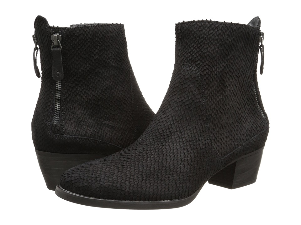 Paul Green - Dory Bootie (Black Metallic) Women's Zip Boots