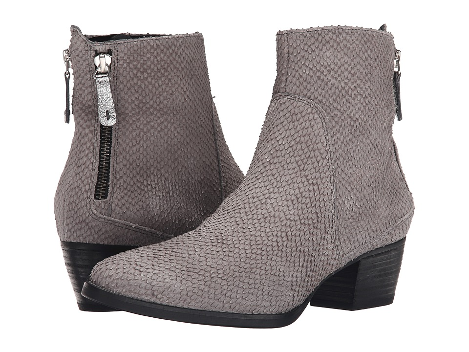 Paul Green - Dory Bootie (Grey/Silver Combo) Women's Zip Boots