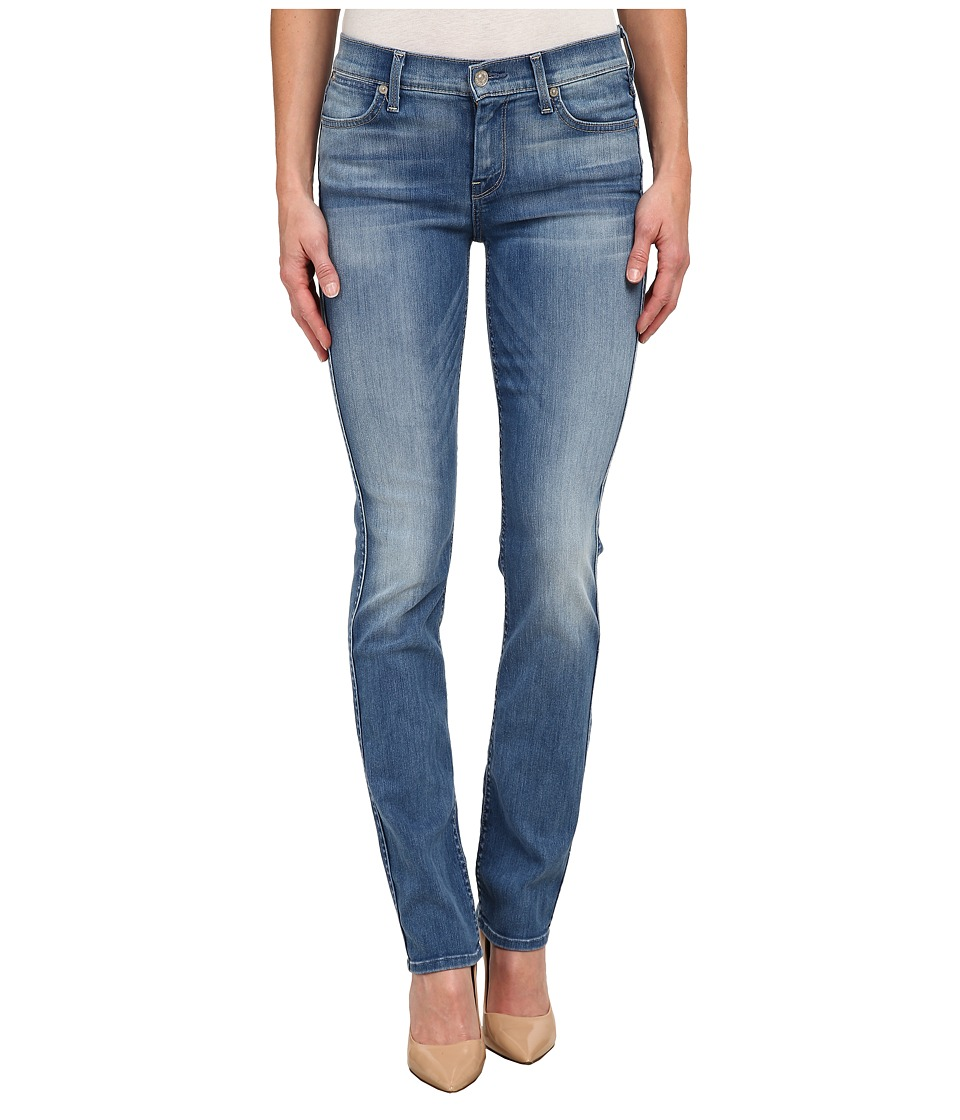 7 For All Mankind - The Modern Straight in Icicle Blue (Icicle Blue) Women