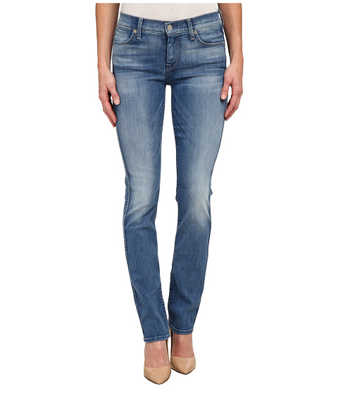 7 For All Mankind - The Modern Straight in Icicle Blue (Icicle Blue) Women's Jeans