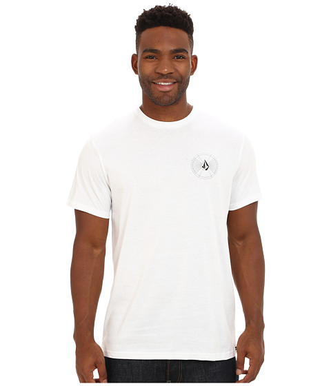 Volcom - Space Time Short Sleeve Tee (White) Men's T Shirt