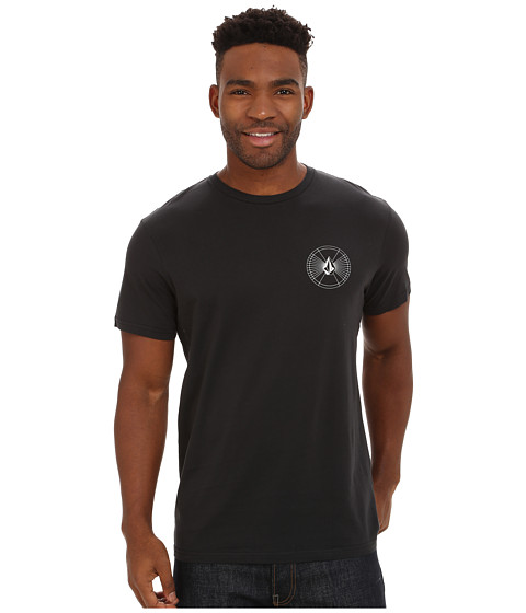 Volcom - Space Time Short Sleeve Tee (Black) Men's T Shirt