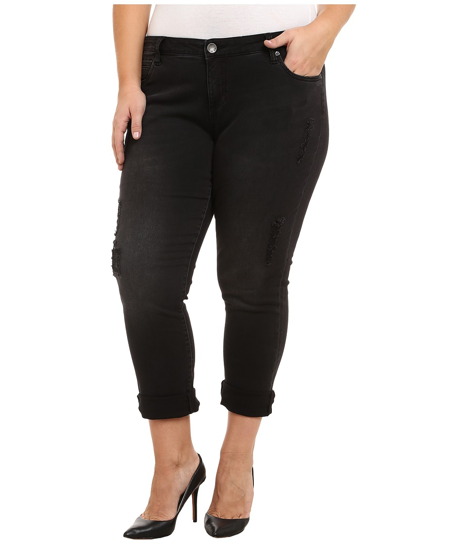 KUT from the Kloth - Plus Size Catherine Boyfriend in Black (Black) Women's Jeans