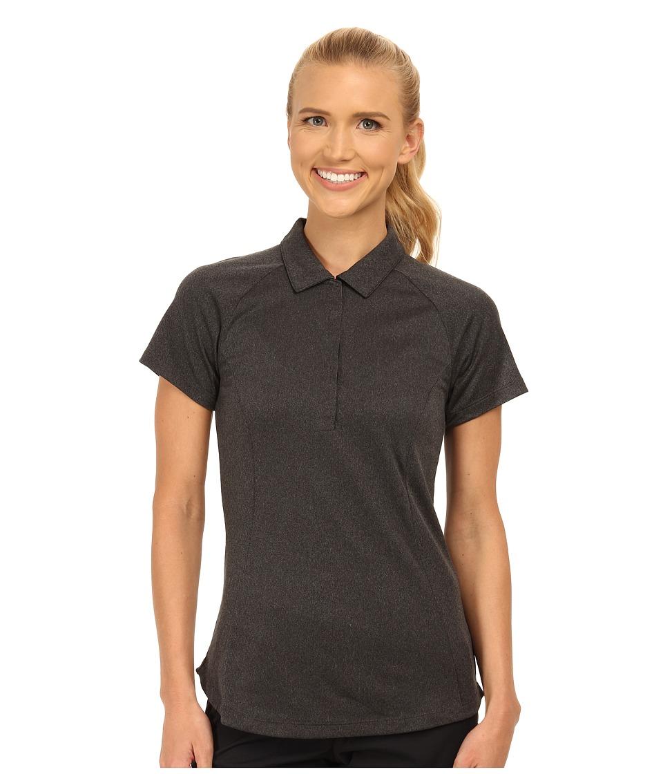 Nike Golf - Luxe Raglan Polo 2.0 (Black/Dark Grey/Heather/Wolf Grey) Women's Short Sleeve Pullover