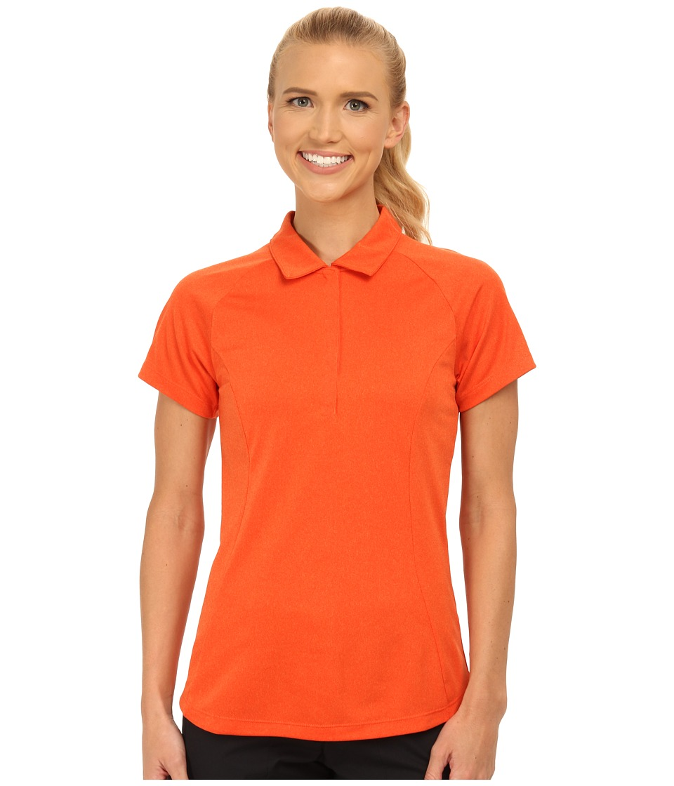 Nike Golf - Luxe Raglan Polo 2.0 (Bright Mandarin/Team Orange/Heather/Electro Orange) Women's Short Sleeve Pullover