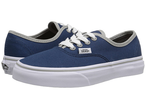 Vans Kids - Authentic (Little Kid/Big Kid) ((Binding Pop) Poseidon/Ice Grey) Boys Shoes