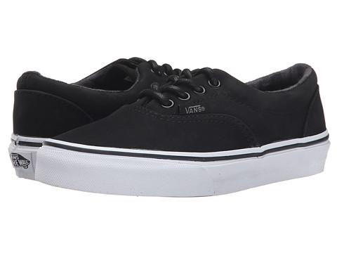 Vans Kids - Era (Little Kid/Big Kid) ((Nubuck) Black/Buffalo) Boys Shoes