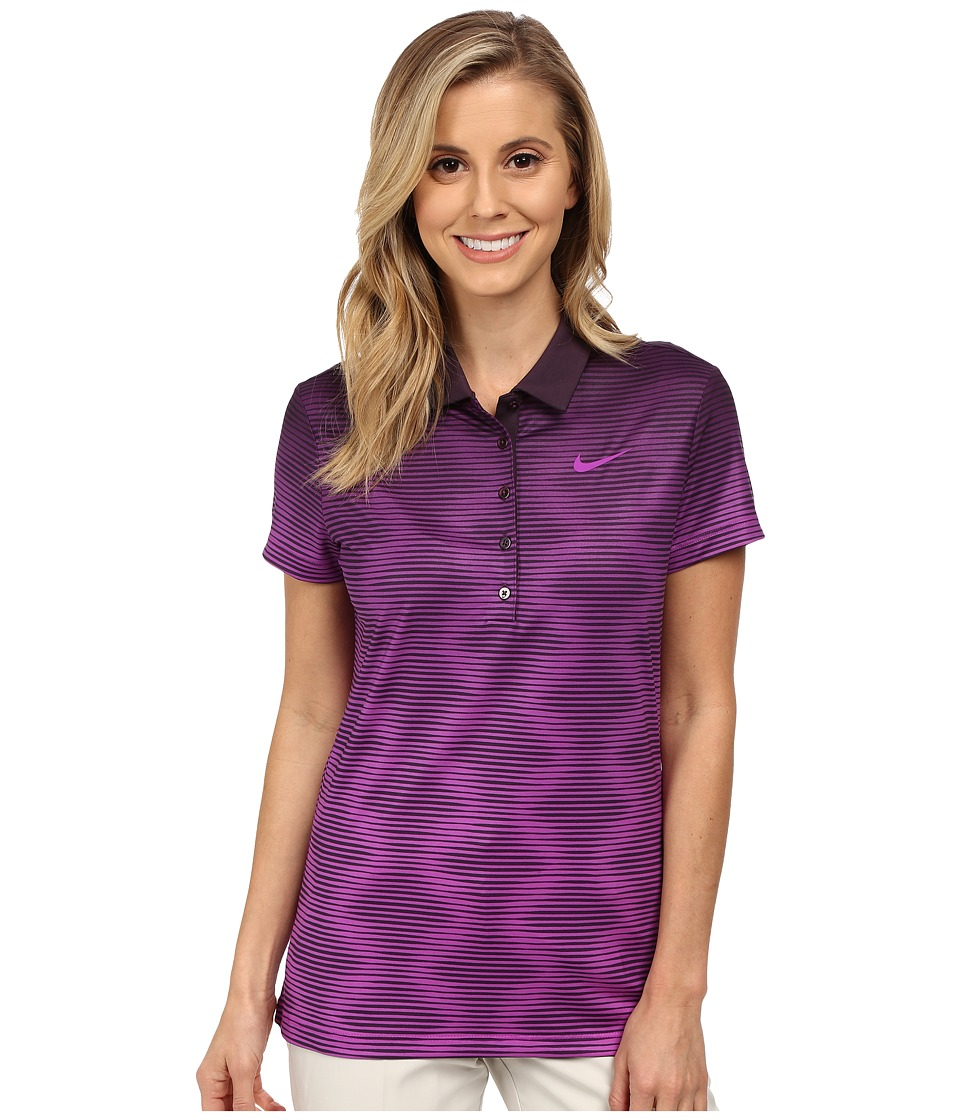 Nike Golf - Print Polo 2.0 (Noble Purple/Vivid Purple/Vivid Purple) Women's Short Sleeve Pullover