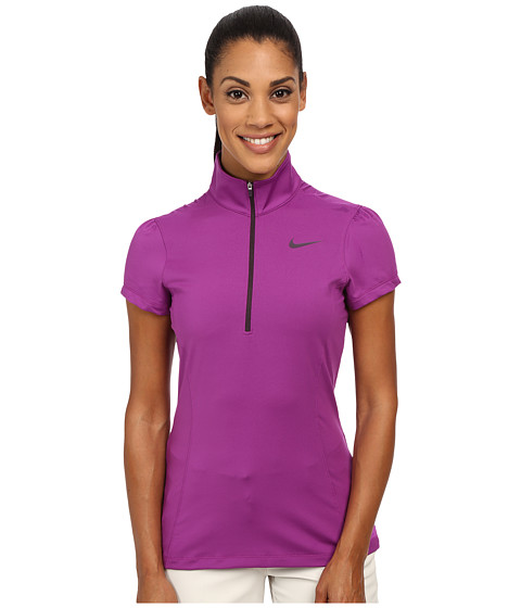 Nike Golf - Zip Mock 2.0 (Purple Dusk/Noble Purple/Bright Crimson) Women