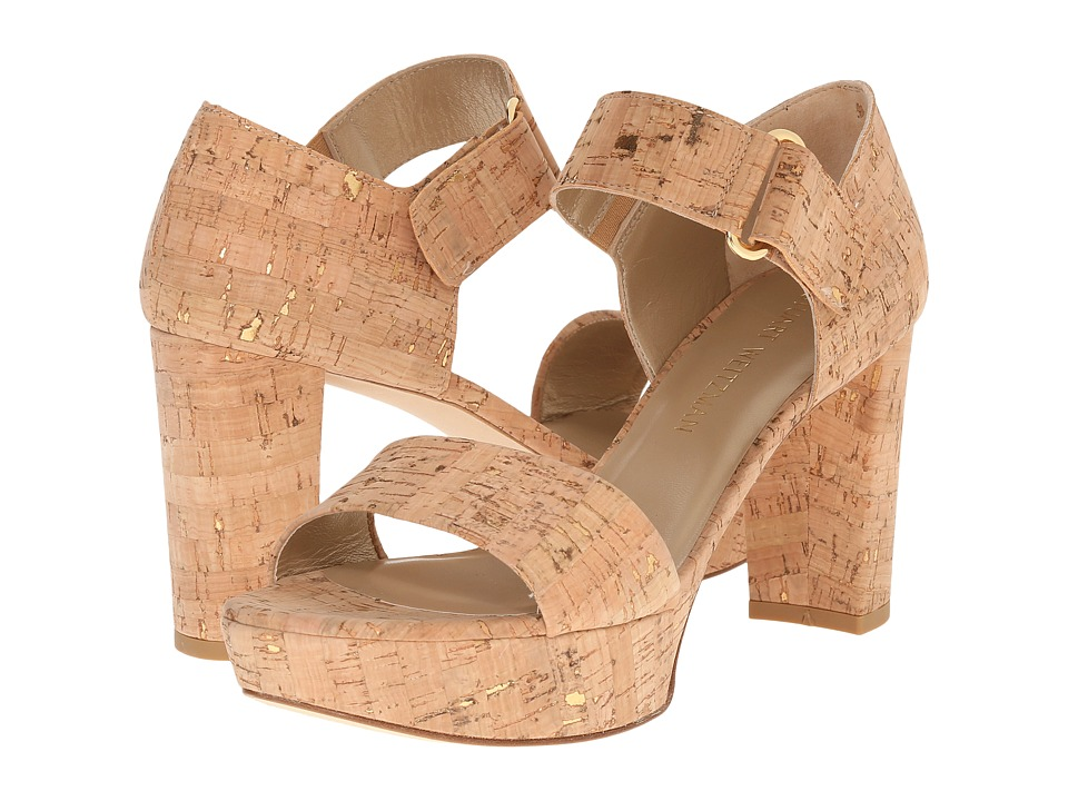 Stuart Weitzman - Causeway (Gold/Nude Cork) High Heels