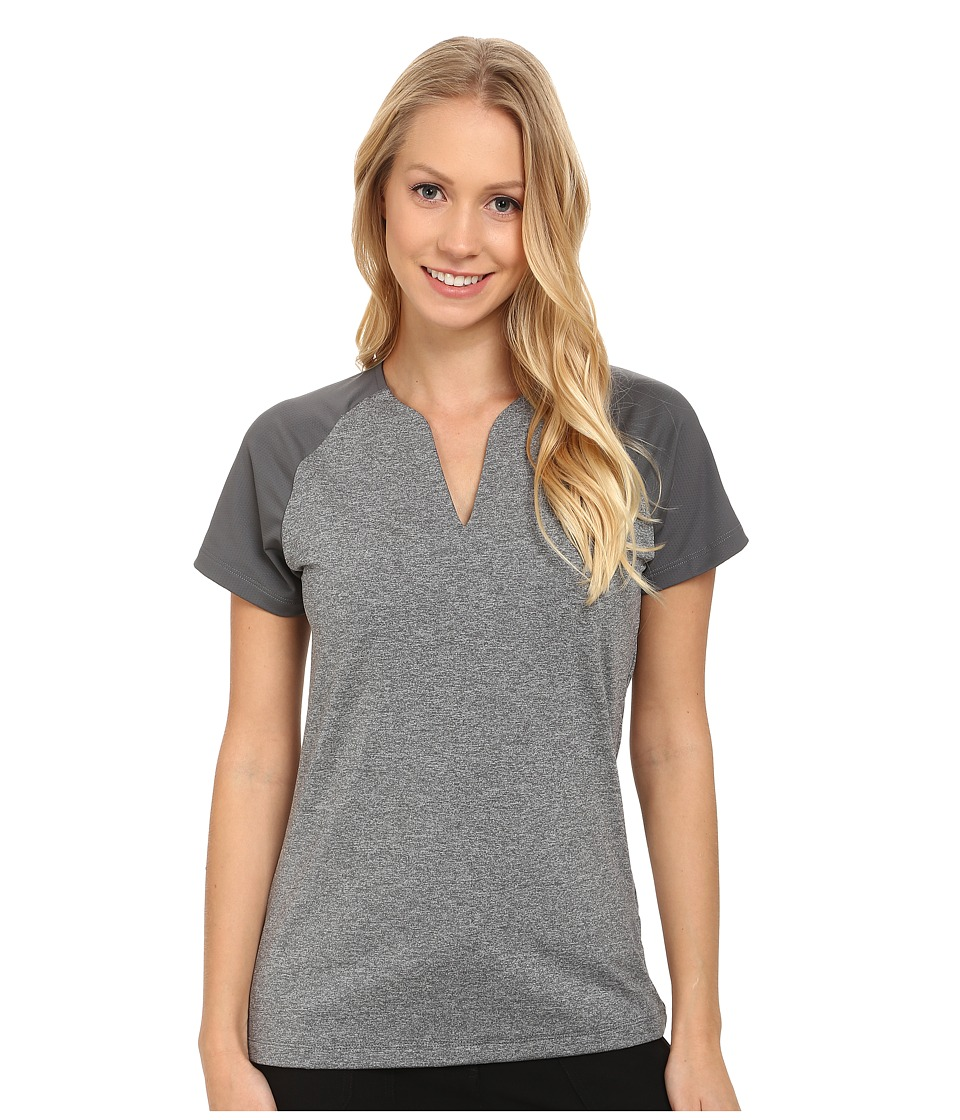 Nike Golf - Tour Mesh Top (Dark Grey/Wolf Grey) Women's Short Sleeve Pullover