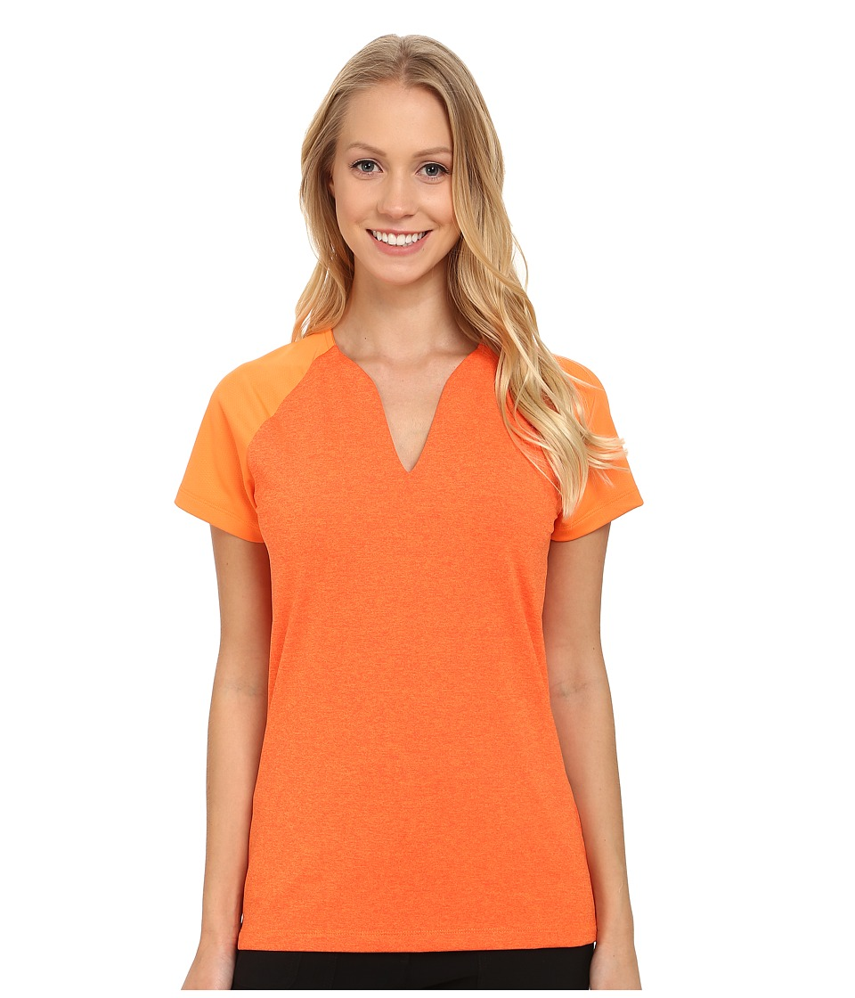Nike Golf - Tour Mesh Top (Bright Mandarin/Electro Orange) Women's Short Sleeve Pullover