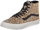 SK8-Hi Slim Zip ((Snake) Tan) Skate Shoes
