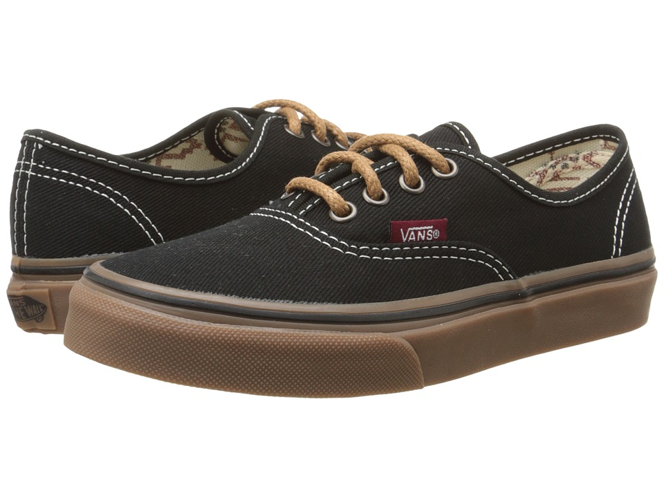 Vans Kids - Authentic (Little Kid/Big Kid) ((T&G) Black/Gum) Boys Shoes