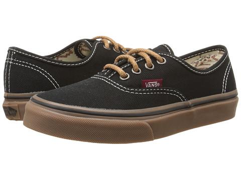 Vans Kids - Authentic (Little Kid/Big Kid) ((T&G) Black/Gum) Boys Shoes