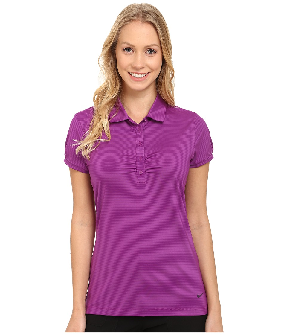 Nike Golf - Mini Stripe Polo (Purple Dusk/Noble Purple) Women's Short Sleeve Knit