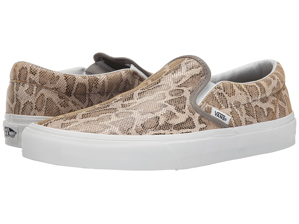 Vans - Classic Slip-On ((Snake) Tan) Skate Shoes