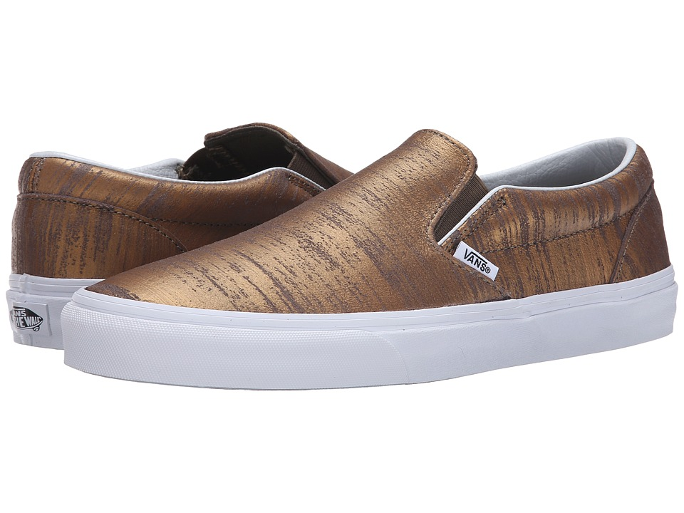 Vans - Classic Slip-On ((Brushed Metallic) Gold) Skate Shoes
