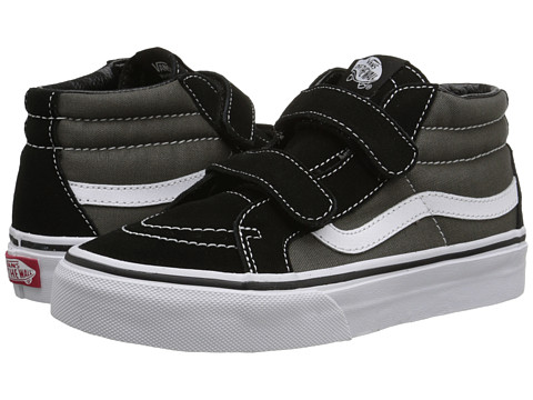 Vans Kids - SK8-Mid Reissue V (Little Kid/Big Kid) (Black/Charcoal) Boys Shoes