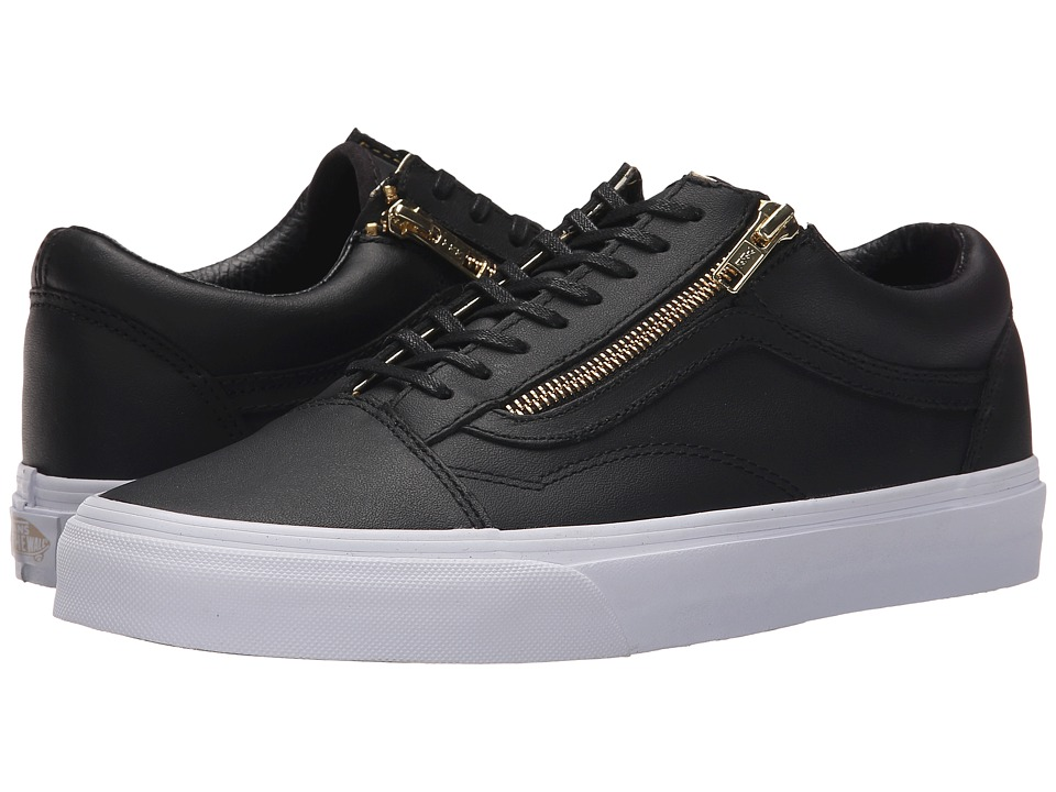 07316bb962e4 ... Gold White Shoes Size UPC 700051736087 product image for Vans - Old  Skool Zip ((Leather) Black  ...