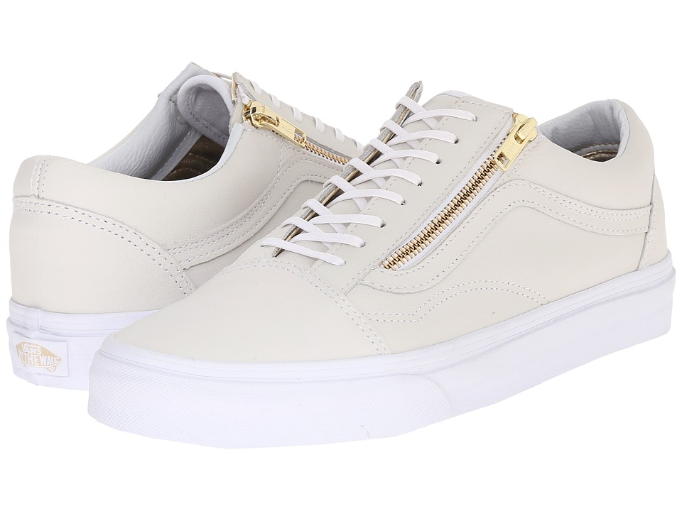 f5a73c179e326a UPC 700051750380 product image for Vans - Old Skool Zip ((Leather) True  White ...