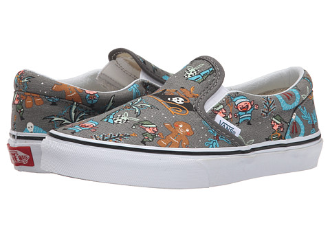 Vans Kids - Classic Slip-On (Little Kid/Big Kid) ((Van Doren) Holiday/Pewter) Kids Shoes