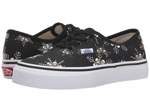 Vans Kids - Authentic (Little Kid/Big Kid) ((Van Doren) Skull Snowflake/Black) Kids Shoes