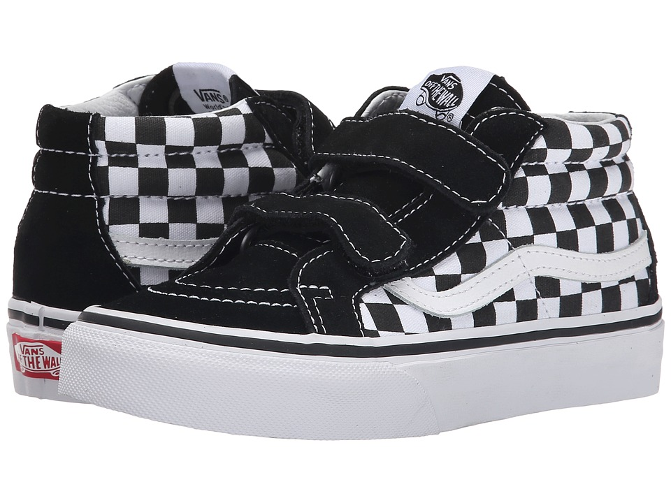 Vans Kids - SK8-Mid Reissue V (Little Kid/Big Kid) ((Checkerboard) Black/True White) Kids Shoes