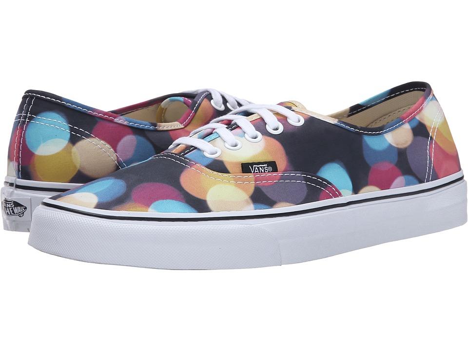 Vans - Authentic ((Flashing Lights) Black/True White) Skate Shoes