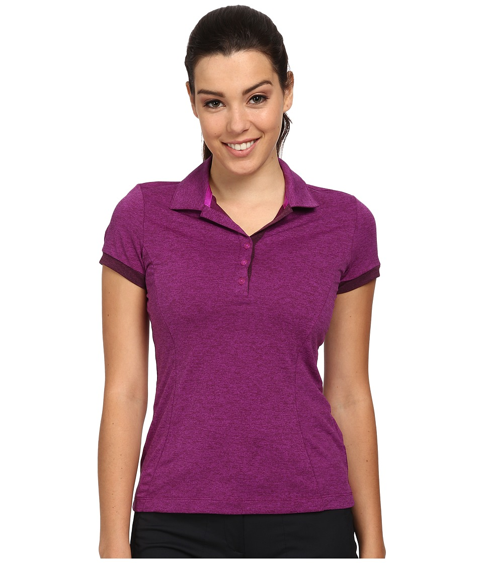 Nike Golf - Victory Block Polo (Vivid Purple/Heather/Vivid Purple/Noble Purple) Women's Short Sleeve Knit