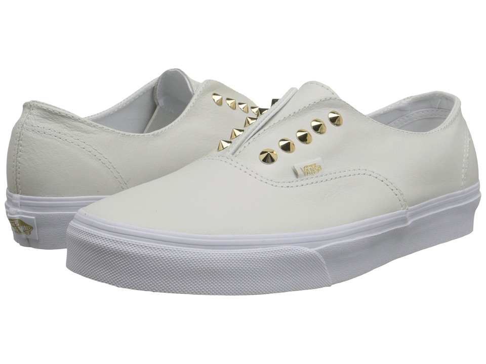 Vans - Authentic Gore ((Studs) Leather/True White) Skate Shoes