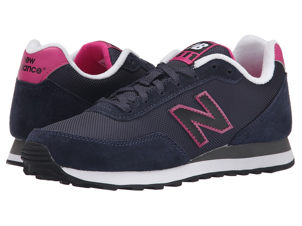 New Balance - WL411 (Navy/Red) Women's Shoes