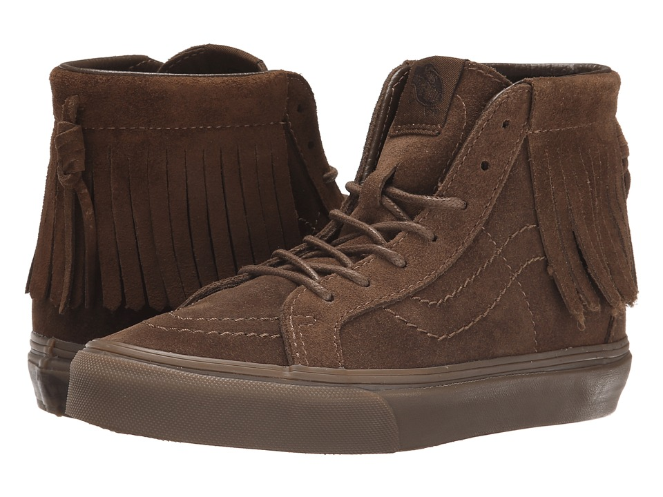 Vans Kids - SK8-Hi Moc ((Suede) Bison) Girls Shoes