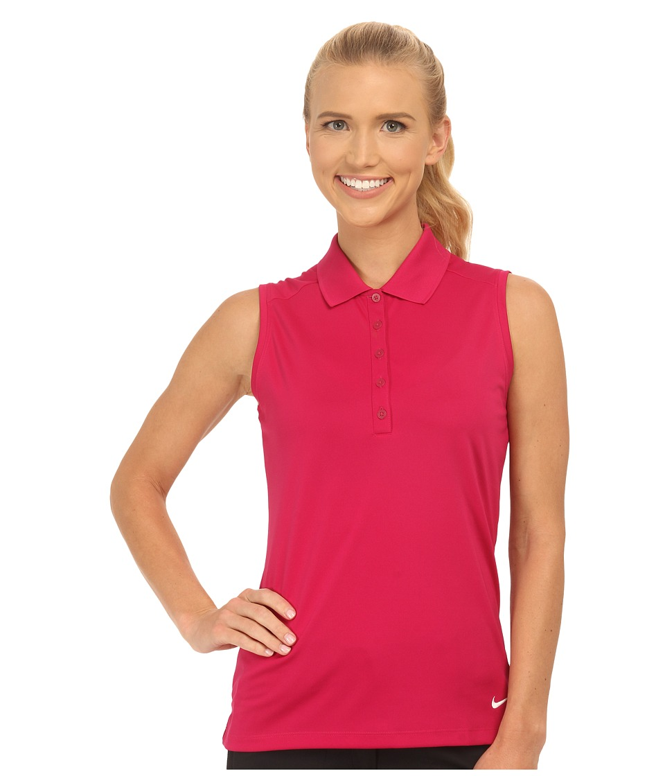 Nike Golf - Victory Sleeveless Polo (Sport Fuchsia/White) Women's Short Sleeve Knit