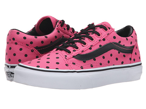 Vans Kids - Old Skool (Little Kid/Big Kid) ((Polka Dots) Pink) Girls Shoes