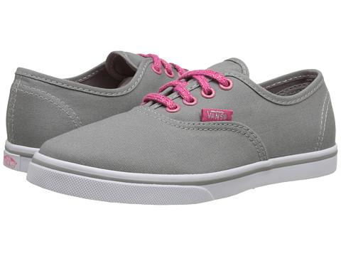 Vans Kids - Authentic Lo Pro (Little Kid/Big Kid) ((Glitter Eyelets) Frost Grey/True White) Girls Shoes