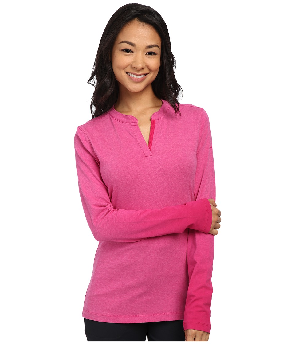 Nike Golf - Fade Long Sleeve Top (Fireberry Heather/Sport Fuchsia/Sport Fuchsia) Women's Long Sleeve Pullover