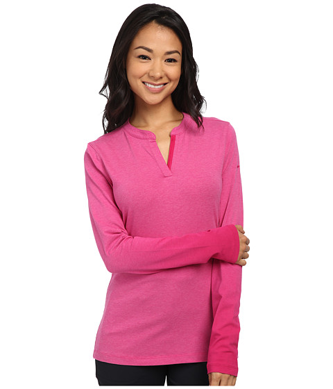 Nike Golf - Fade Long Sleeve Top (Fireberry Heather/Sport Fuchsia/Sport Fuchsia) Women
