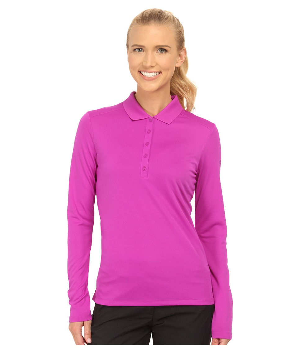 Nike Golf - Victory L/S Polo (Vivid Purple/White) Women's Long Sleeve Pullover