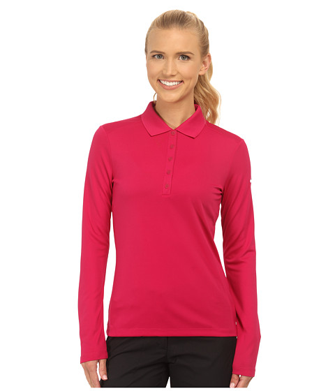 Nike Golf - Victory L/S Polo (Sport Fuchsia/White) Women's Long Sleeve Pullover