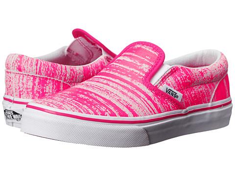 Vans Kids - Classic Slip-On (Little Kid/Big Kid) ((Brushed Metallic) Pink) Girls Shoes
