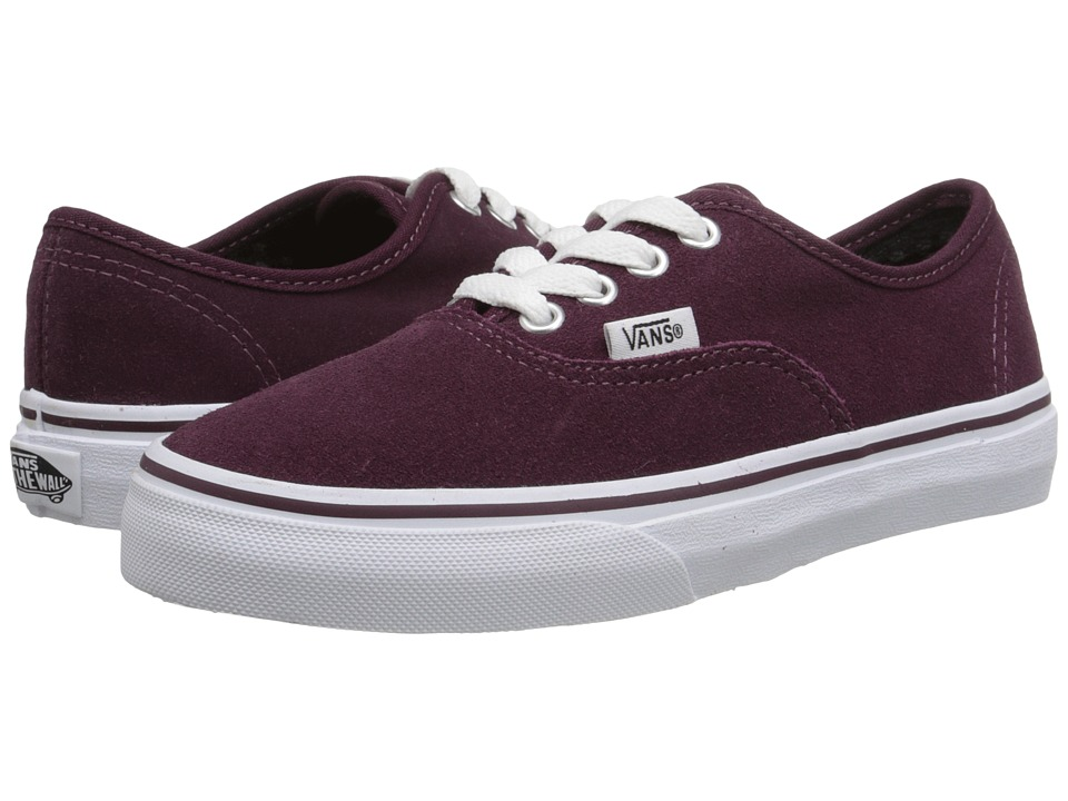 Vans Kids - Authentic (Little Kid/Big Kid) ((Suede) Fig/True White) Girls Shoes