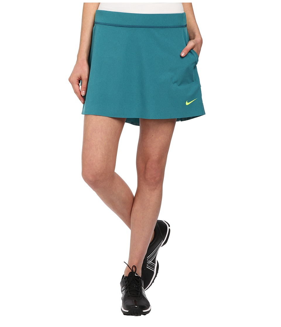 Nike Golf - Innovation Links Skort 2.0 (Teal/Heather/Volt) Women's Skort