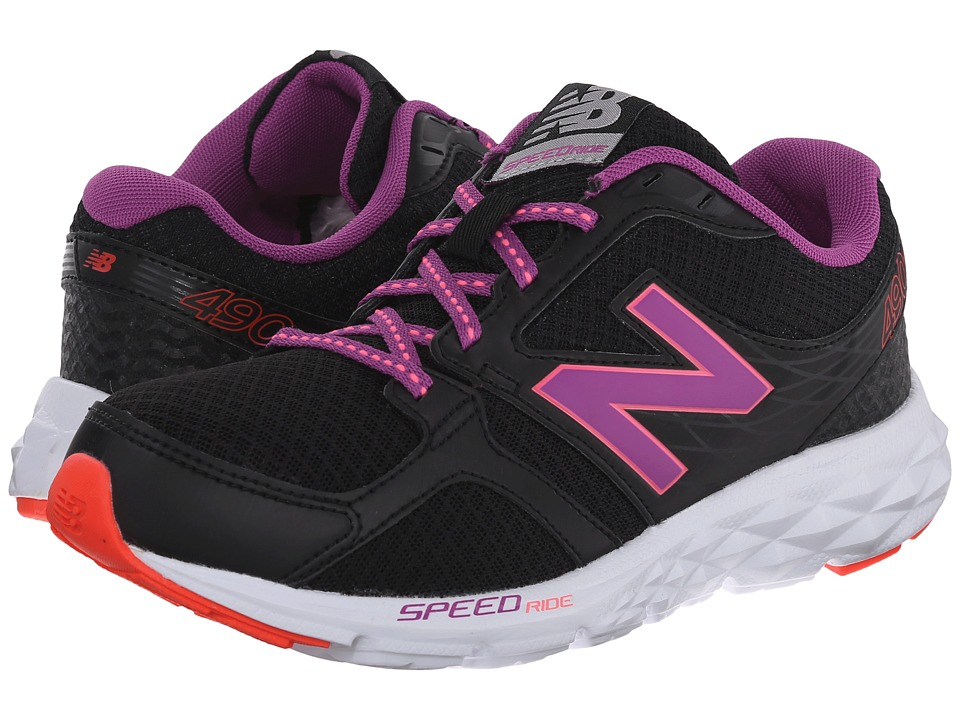 New Balance - W490V3 (Black/Deep Orchid) Women's Shoes