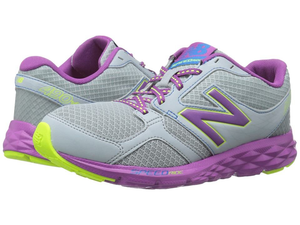 New Balance - W490V3 (Silver/Purple) Women's Shoes
