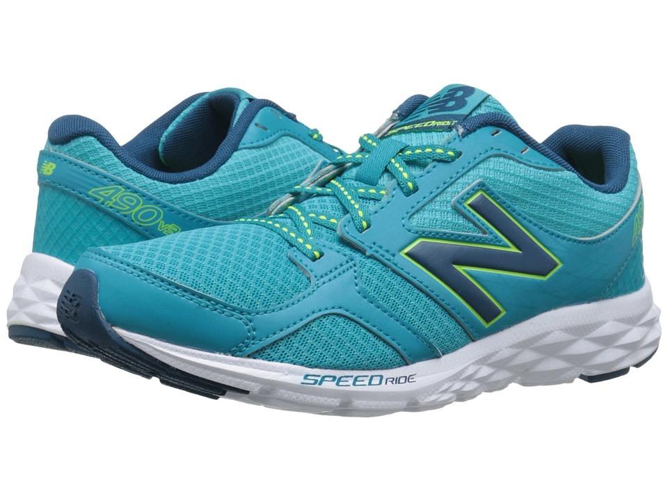 New Balance - W490V3 (Sea Glass/Deep Water) Women's Shoes
