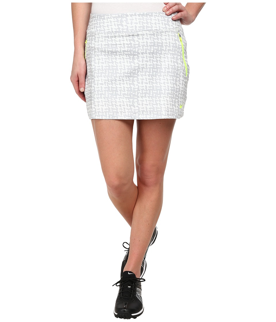 Nike Golf - Printed Flight Skort (Wolf Grey/Summit White/Volt) Women's Skort